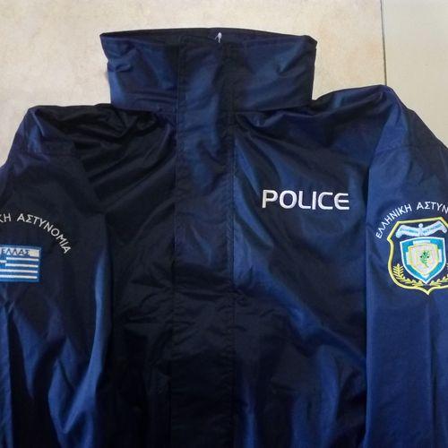 Αδιάβροχο jacket 502 με επένδυση και κεντήματα ΕΛ.ΑΣ. και Σωφρ.Ιδρυμάτων