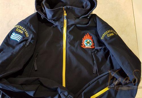 Αδιάβροχο Softshell Artaxes Escape K08035 με κέντημα Πυροσβεστικής