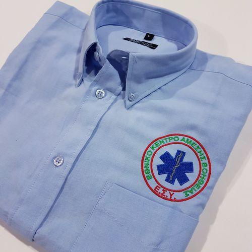 Κοντομάνικο βαμβ. πουκάμισο Broadway  ΕΚΑΒ