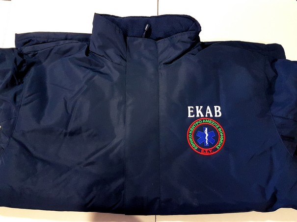 Parka-αδιάβροχο jacket Europa με κέντημα ΕΚΑΒ ή Ιατρών