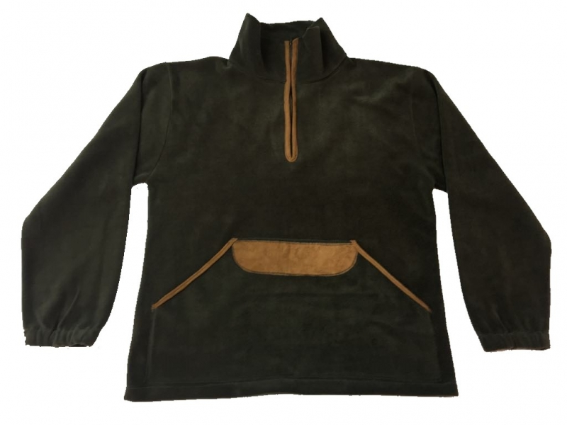 Κυνηγετικό Φούτερ fleece με μεγάλη τσέπη καγκουρό