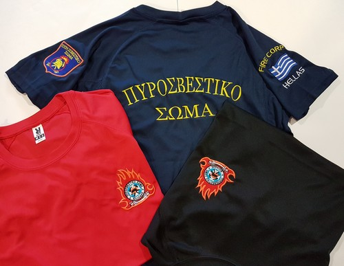 Αντιϊδρωτική μπλούζα Montecarlo με κεντήματα Πυροσβεστικής