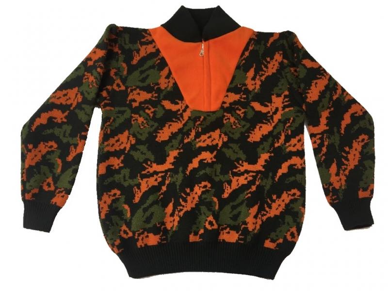 Κυνηγετικό πουλόβερ παραλλαγής με fleece γιακά