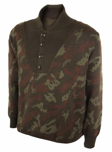 Μάλλινο πουλόβερ με κουμπιά και γιακά